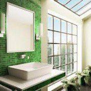 Mozaikowa dekoracja w łazience