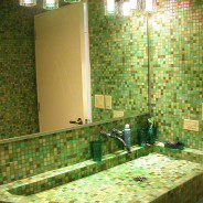 Mozaika na podłodze w łazience?