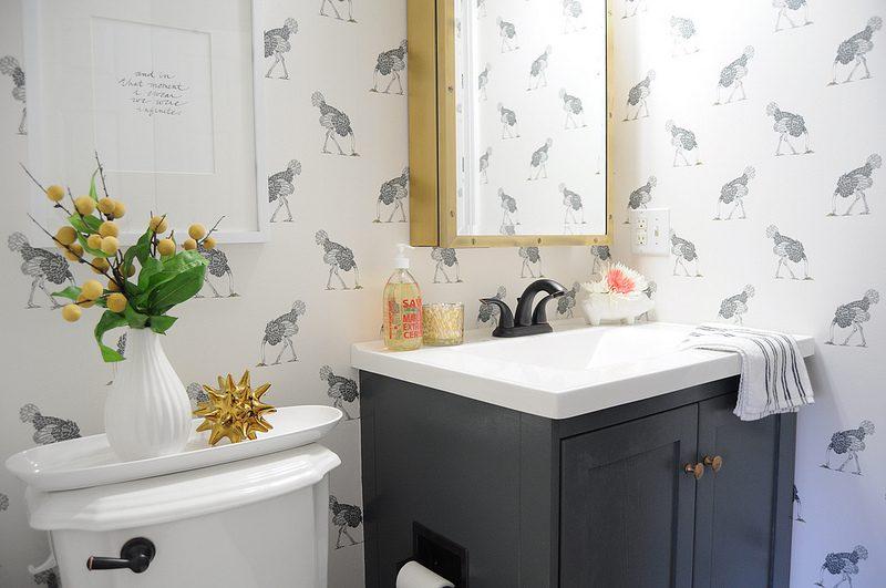Tapeta w azience aran acje azienek wyposa enie azienek - Decorating your bathroom ideas ...